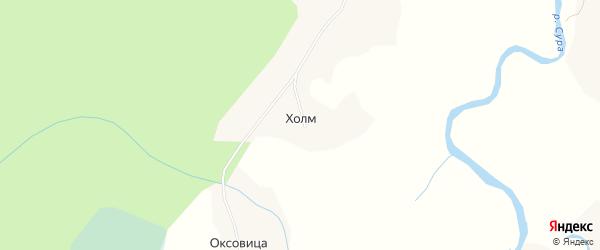 Карта поселка Холма в Архангельской области с улицами и номерами домов