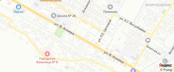 Печорская улица на карте Грозного с номерами домов