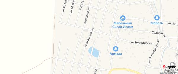 Западная улица на карте села Гойты с номерами домов