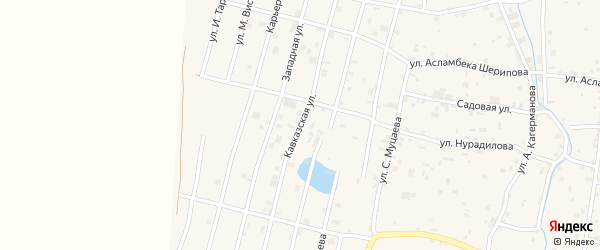 Западная 3-й переулок на карте села Гой-чу с номерами домов