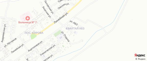 Улица АБЗ на карте Грозного с номерами домов