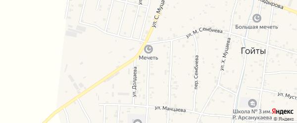 Улица С.Муцаева на карте села Гойты с номерами домов