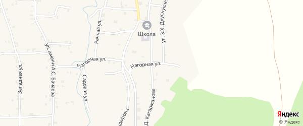 Улица им А.Д.Кагарманова на карте села Гой-чу с номерами домов
