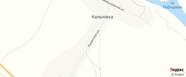 Казанская улица на карте села Кальновки с номерами домов