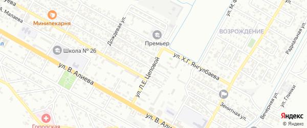 Библиотечная улица на карте Грозного с номерами домов