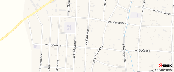 Улица Гагарина на карте села Гойты с номерами домов