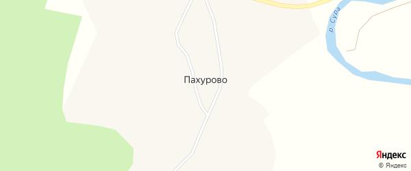 Центральная улица на карте деревни Пахурово с номерами домов