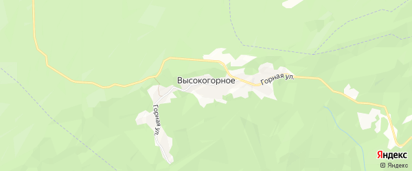 Карта Высокогорного села в Чечне с улицами и номерами домов