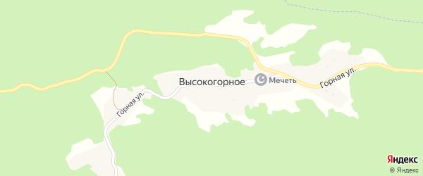 Горная улица на карте Высокогорного села с номерами домов