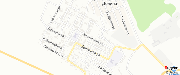 Электронная улица на карте Грозного с номерами домов