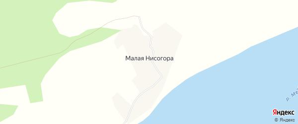 Карта деревни Малой Нисогоры в Архангельской области с улицами и номерами домов