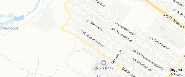 Утренний 2-й переулок на карте Грозного с номерами домов