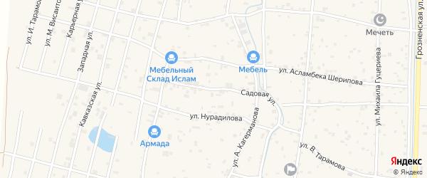 Садовая улица на карте села Гойты с номерами домов
