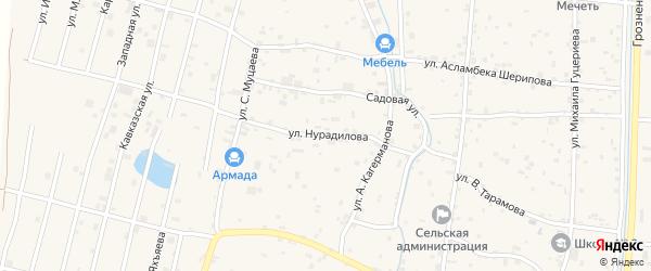 Улица Х.Нурадилова на карте села Гойты с номерами домов