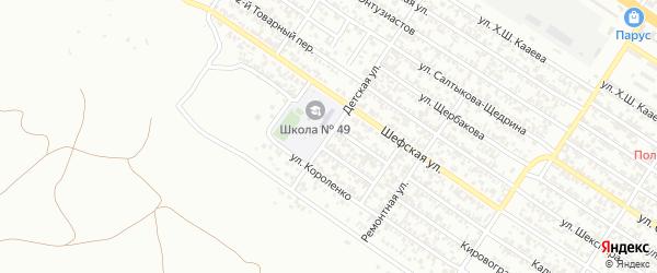 Детская улица на карте Грозного с номерами домов