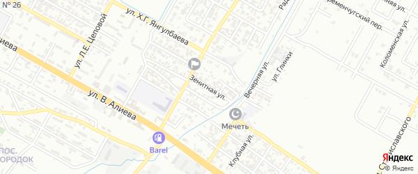 Зенитная улица на карте Грозного с номерами домов