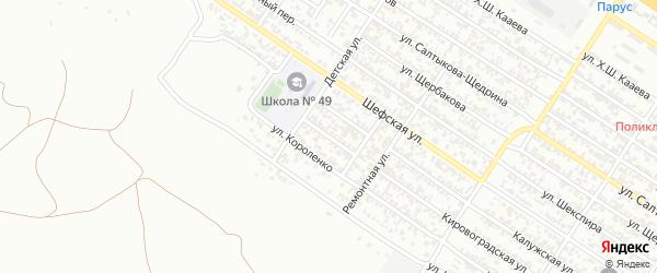 Детский 2-й переулок на карте Грозного с номерами домов