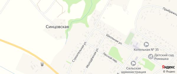 Строительная улица на карте Большей деревни с номерами домов