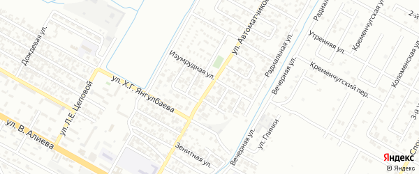 Улица Автоматчиков на карте Грозного с номерами домов