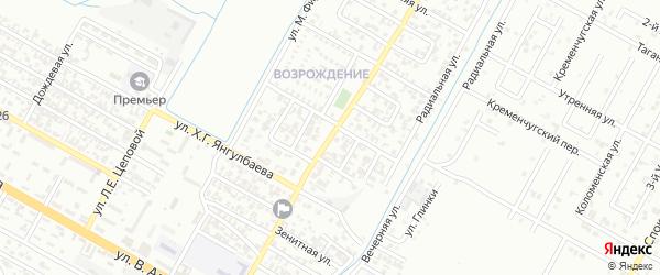 Автоматчиков 3-й переулок на карте Грозного с номерами домов