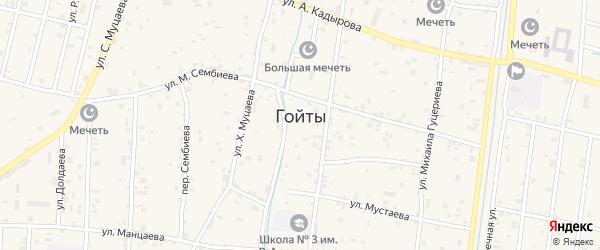 Улица З.Кадырова на карте села Гойты с номерами домов