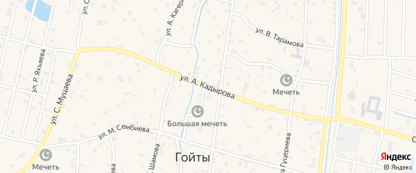 Улица А.Даудова на карте села Гойты с номерами домов