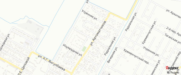 Отрадная улица на карте Грозного с номерами домов
