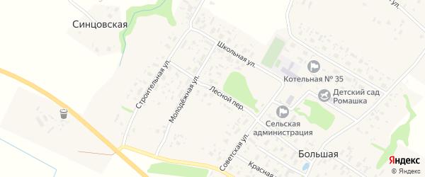 Лесной переулок на карте Большей деревни с номерами домов