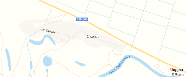 Карта хутора Стасова в Астраханской области с улицами и номерами домов