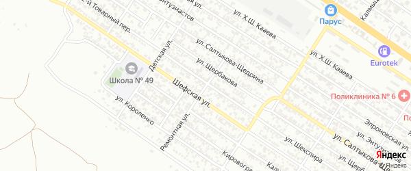 Ремонтная улица на карте Грозного с номерами домов
