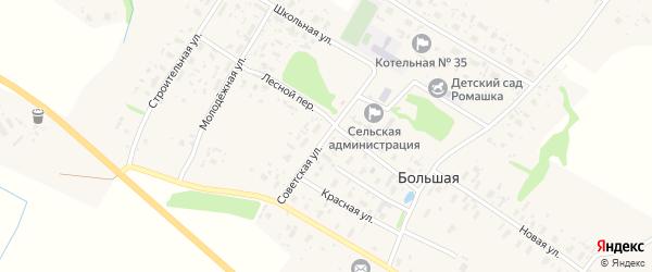 Советская улица на карте Большей деревни с номерами домов