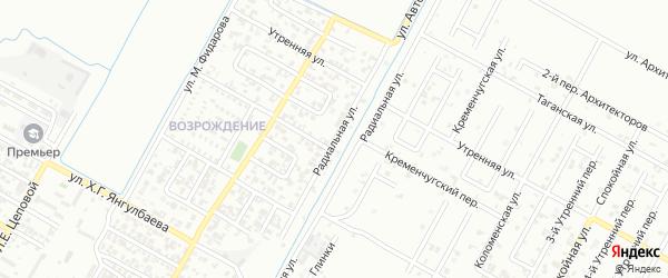 Радиальная улица на карте Грозного с номерами домов