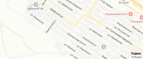 Калужская улица на карте Грозного с номерами домов