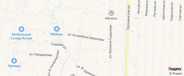 Улица А.Шерипова на карте села Гойты с номерами домов