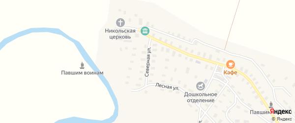 Северная улица на карте села Суры с номерами домов