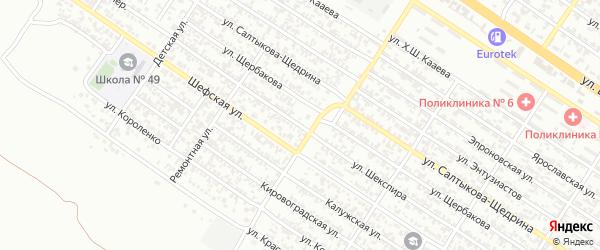 Улица Шекспира на карте Грозного с номерами домов