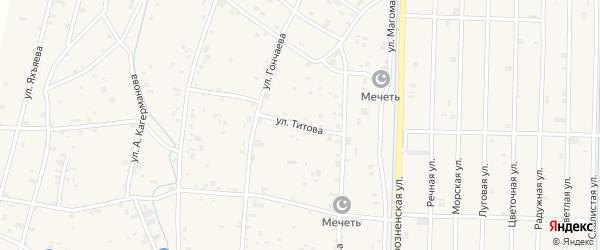Улица Титова на карте села Гойты с номерами домов