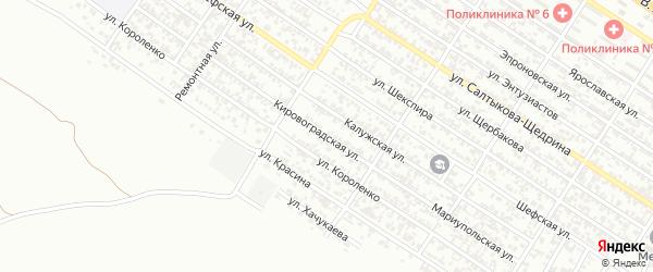 Кировоградская улица на карте Грозного с номерами домов