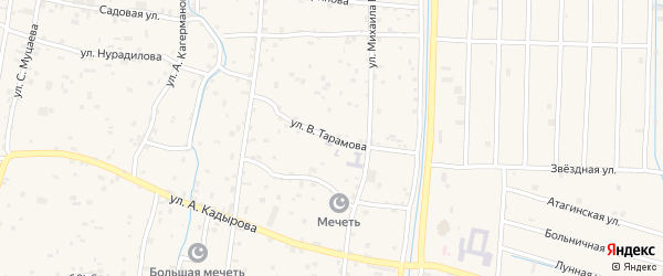 Улица В.Тарамова на карте села Гойты с номерами домов