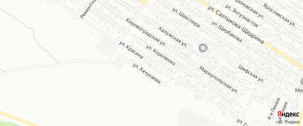 Улица Красина на карте Грозного с номерами домов