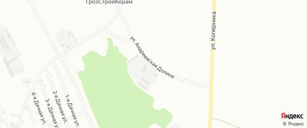 Улица Андреевская Долина на карте Грозного с номерами домов