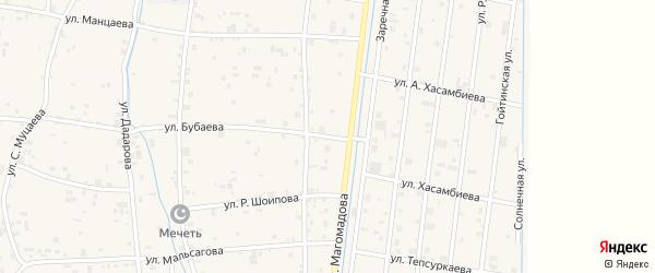 Московская улица на карте села Гой-чу с номерами домов