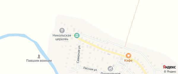 Колхозная улица на карте села Суры с номерами домов