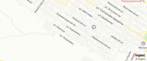 Улица Короленко на карте Грозного с номерами домов