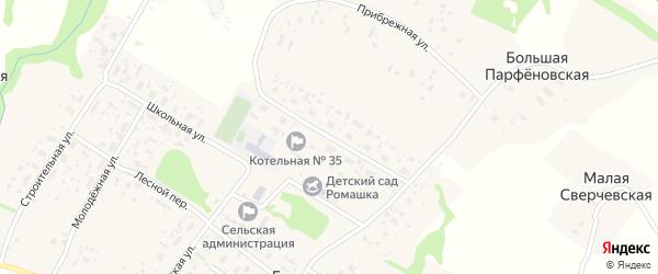 Улица Генерала Опякина на карте Большей деревни с номерами домов