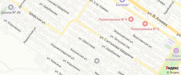 Улица Щербакова на карте Грозного с номерами домов