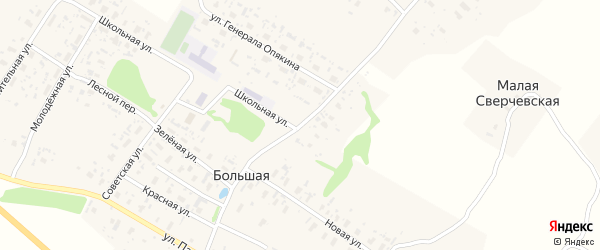 Парфеновская улица на карте Большей деревни с номерами домов