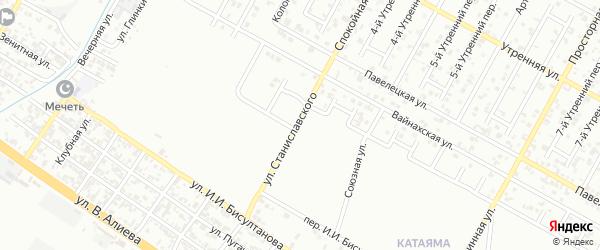 Улица Станиславского на карте Грозного с номерами домов