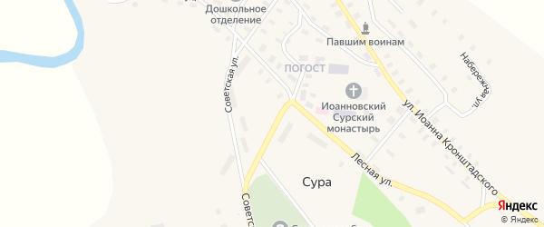 Набережная улица на карте села Суры с номерами домов
