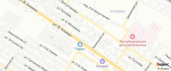 Школьный переулок на карте Грозного с номерами домов